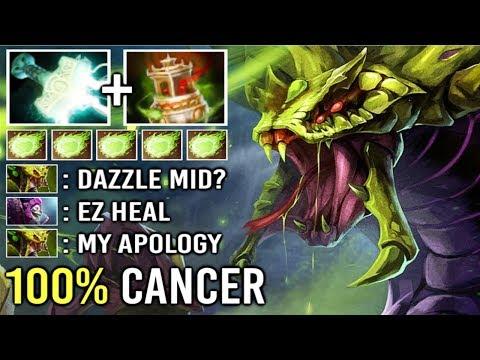 NEW CANCER BUILD Vessel Mid Venomancer Even Heal Can't Help vs Electric Poison 7.21 Build Dota 2