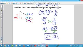 Alg 2 9 1 Day 2 Special Right Triangles