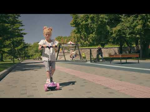 Самокат детский 3-х колесный складной RUSH ACTION