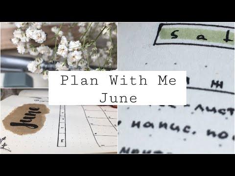 Оформление Планера На Июнь 2019 | Plan With Me | Bullet Journal | Оформляем Ежедневник | Идеи