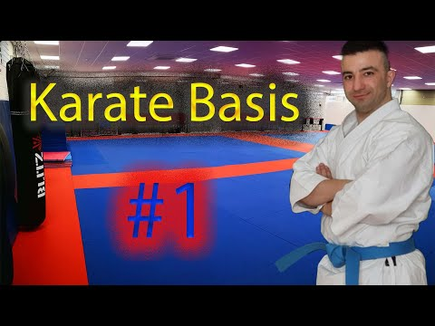 Lerne Karate. Karate Basis -1- Was man in der ersten Stunde lernen sollte