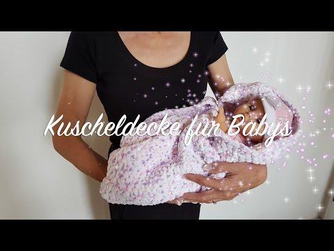 Kuscheldecke für Babys häkeln | Decke häkeln für Anfänger