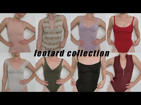 my leotard collection! try on