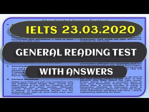 IELTS GENERAL READING TEST 2020 - WITH ANSWETS - MUST ...