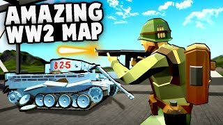 Amazing NEW WW2 Map!  Best RAVENFIELD Map, P-51 Mustangs! (Ravenfield Best Mods Gameplay)