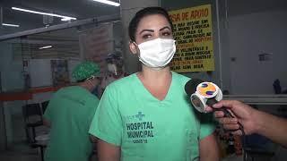 Voluntários promovem ação solidária no Hospital de Campanha