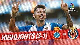 Resumen de RCD Espanyol vs Villarreal CF (3-1)