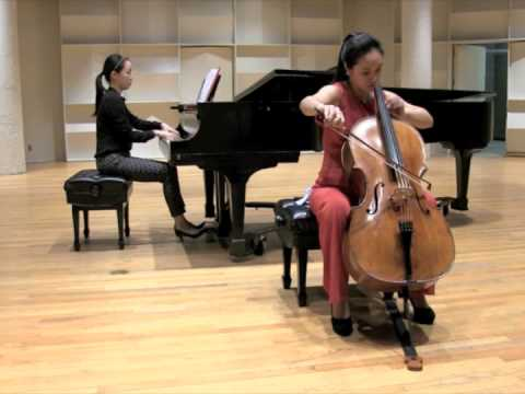 Meixu Lu solo performs Tchaikovsky Rococo Variations - Theme 1 2 at Boston University College of Fine Arts School of Music.