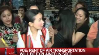 Grace Poe: Campaign Organizers Rent Aircraft
