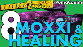 Top 8 Moxxi and Healing Guns and Weapons in Borderlands 2 and The Pre-Sequel! #PumaCounts