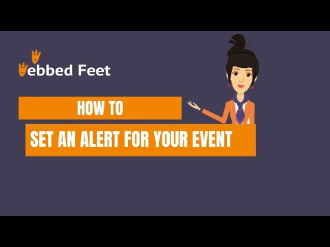 How to Set an alert for your event