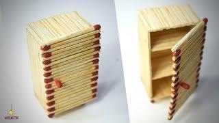 DIY Miniature Refrigerator Made With Match Sticks FREEZER ALMIRA