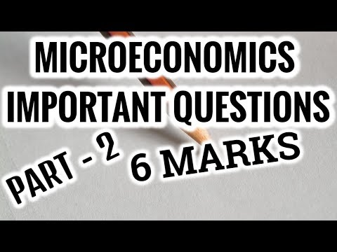 MICROECONOMICS -6 MARKS  IMPORTANT QUESTIONS - PART 2