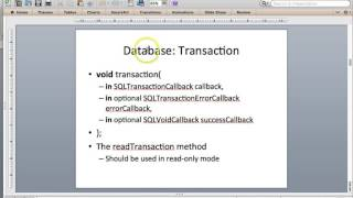 Working with Web SQL (SQLite) Database with PhoneGap Tutorial