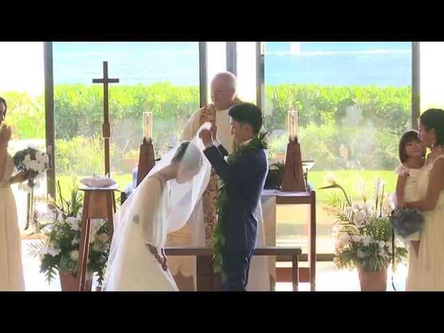 Dramatic Style キャルバリー・バイ・ザ・シー教会 Hawaii Wedding at Calvary by the Sea