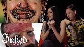 Tattoo Artists React To Extreme Body Modification | Tattoo Artists React