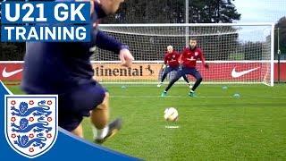 Double Goalkeeper Test - England U21 | Inside Training