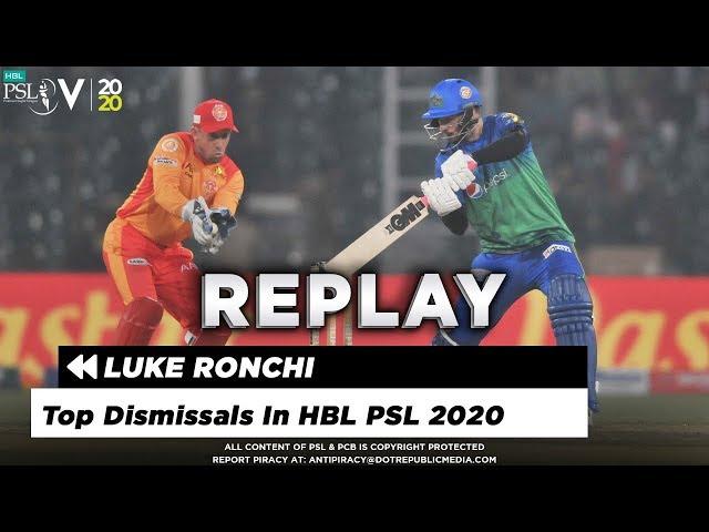 Luke Ronchi | Top Dismissals In HBL PSL 5 | HBL PSL 2020