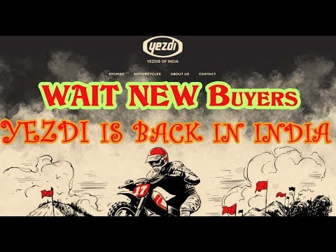 YEZDI IS COMING BACK  TO INDIA