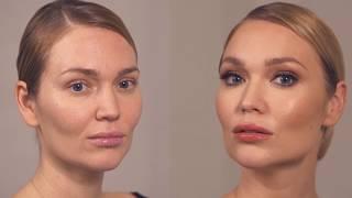 Smoky Eyes в нейтральных оттенках с акцентом на ресницы, фирменный макияж от Ольги Романовой.