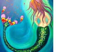 How To Paint | Mermaid | Beginner Acrylic Art Lesson | TheArtSherpa