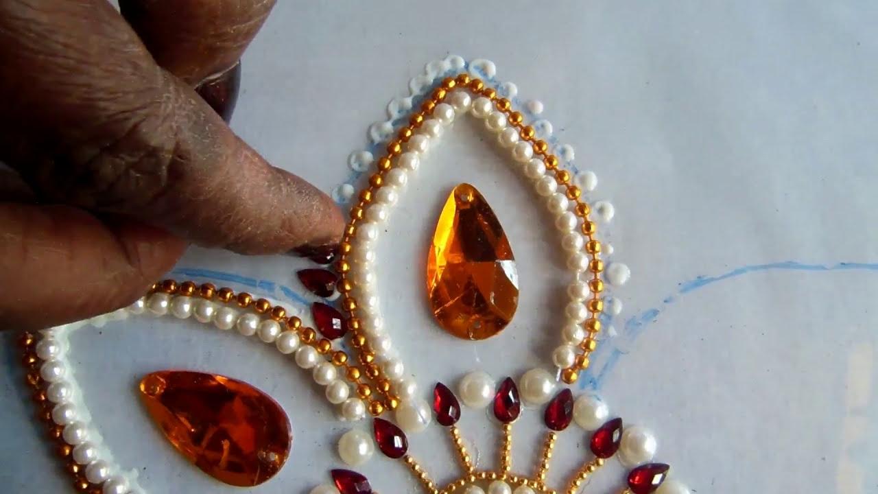 kundan rangoli tricks by nandi art and craft