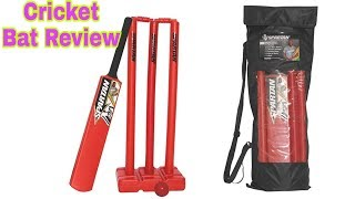 #01 Review Cricket Bat & Stumps || Test And Specs.