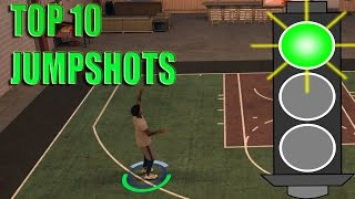 NBA 2K17 TIPS - TOP 10 BEST JUMPSHOTS FOR MY PARK , MY CAREER & PRO-AM | AUTOMATIC GREENLIGHTS OMFG!