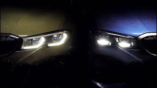 МОЯ МАШИНА #5. ЛАЗЕРНЫЕ ФАРЫ ПРОТИВ СВЕТОДИОДОВ. Все, что надо знать про фары BMW 3 серии G20
