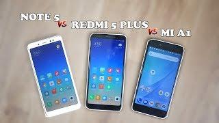 Xiaomi Redmi Note 5 comparado con el Mi A1 y el Redmi 5 Plus ¿cuál me compraría?
