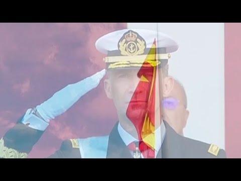Izado y homenaje a la bandera española en la Fiesta Nacional