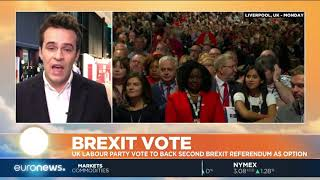 UK Labour Party vote to back second Brexit referendum as option