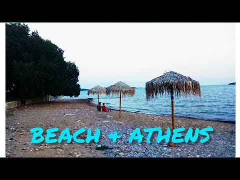 Athens Beach /Beautiful Sun Set/Natural Sounds