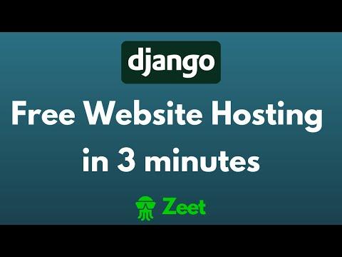 Free Django Website Hosting in 3 Minutes - Zeet Server - Easy Tutorial