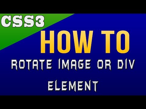 How to Rotate Image or DIV Element Using CSS3