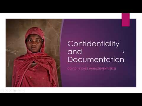 GBVIMS COVID-19 Series: Confidentiality and documentation