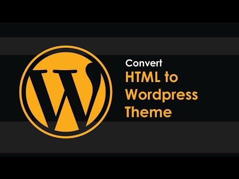 Convert HTML to Wordpress Theme - Part 2