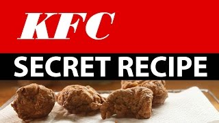KFC Secret recipe accidentally revealed!  Watch how to make it!