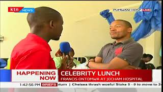 Celebrity lunch: KTN News anchors share a meal with patients at the Pumwani maternity hospital