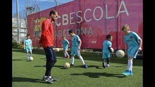 Репортаж о выезде на тренировочную базу FC Barcelona на весенних каникулах