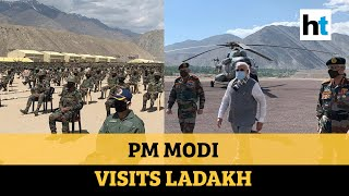 Watch: PM Modi makes surprise visit to Ladakh, interacts with forces - Download this Video in MP3, M4A, WEBM, MP4, 3GP