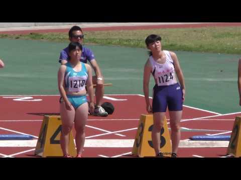 20170519群馬県高校総体陸上女子100m予選4組