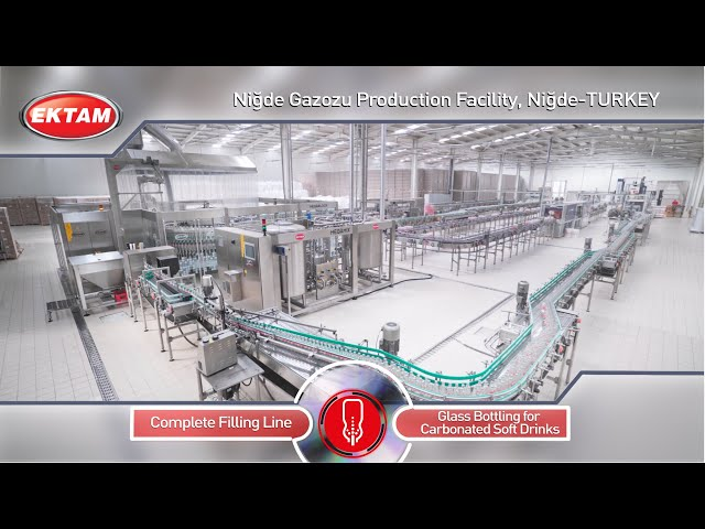 NIGDE GAZOZU - A Modern CSD Glass Bottling Line from EKTAM