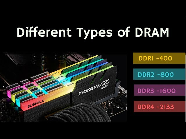 Different Types of DRAM: SDRAM/DDR1/DDR2/DDR3/DDR4/LPDDR/GDDR