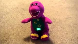 Barney Light Up Star Tummy Sings Twinkle, Twinkle, Little Star and You Shine So Bright Toy Video