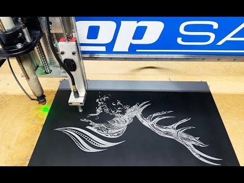 Vibratory Plate Marking Scribe on ShopSabre CNC Plasma Machinevideo thumb