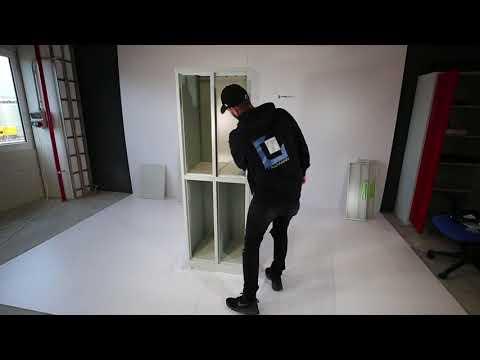 Steelboxx Stahl-Kleider-Fächerschrank 567220, Wertfachschrank, Schließfachschrank, Spind