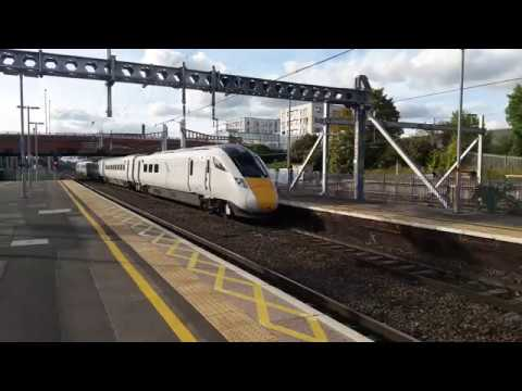 Great Western Railway IEP 800009 passes Slough at speed 28th…