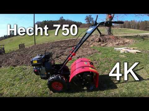 Hecht 750 Gartenfräse / Bodenhacke / Kultivator im Test - Gartenboden und Grasnarbe - 4K