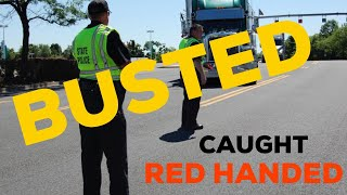 BUSTED THE DOT : Doing Inspections In Rest Area Against CVSA Recommendation